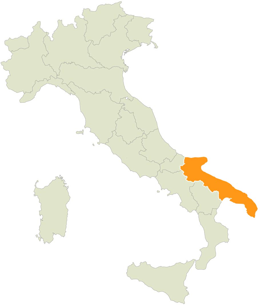 Map showing Tuscany within Italy